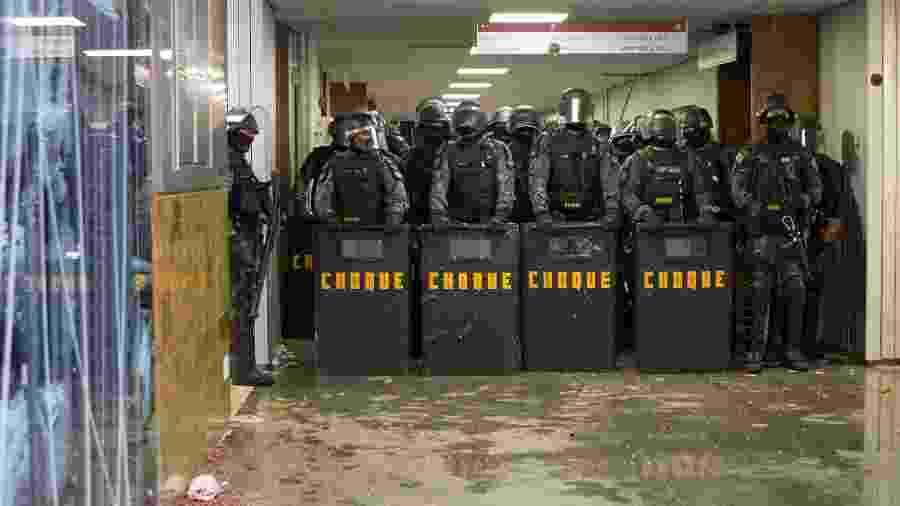 O Batalhão de Polícia de Choque foi chamado durante a votação da reforma da previdência  estadual - Iury Carvalho
