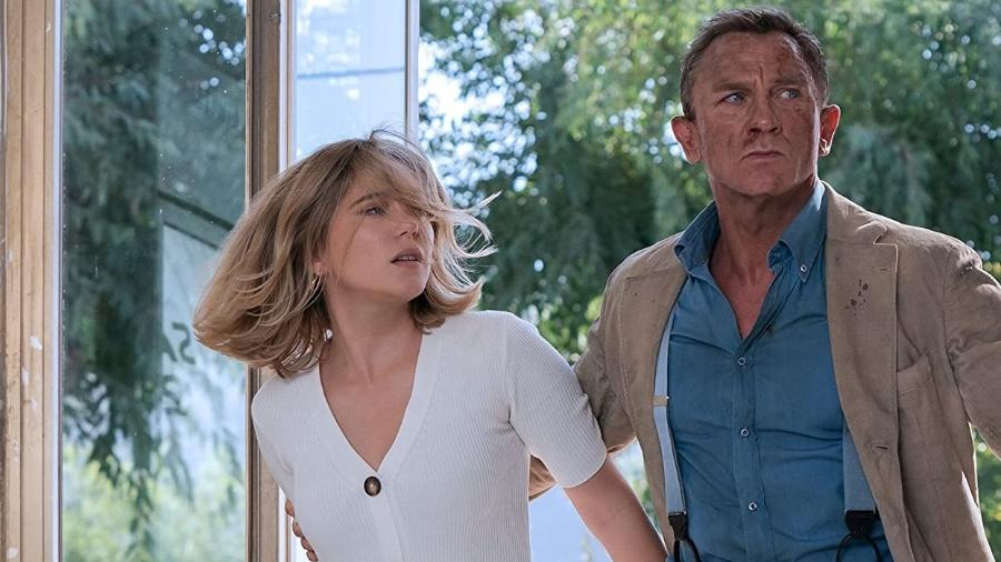 """Cena de """"Sem Tempo para Morrer"""", com Daniel Craig e Léa Seydoux - Divulgação"""