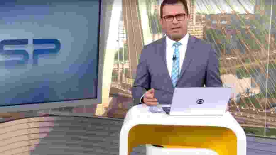 """Rodrigo Bocardi é apresentador do """"Bom Dia São Paulo"""" - Reprodução/TV Globo"""