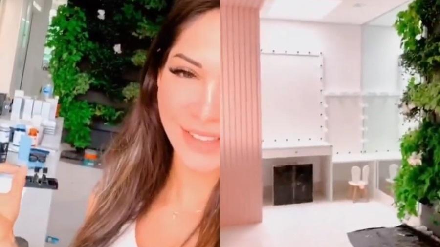 Mayra Cardi mostra reforma em banheiro de sua nova casa - Reprodução/Instagram