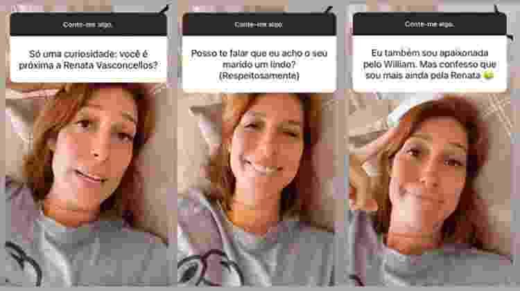 Natasha Dantas em bate-papo com seus seguidores - Reprodução/ Instagram - Reprodução/ Instagram
