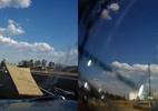 Mesa de ping-pong atinge para-brisa de carro a mais de 100 km/h; assista