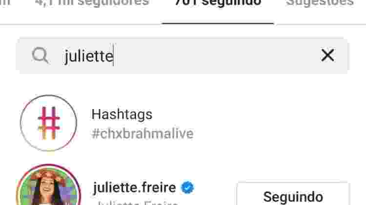 BBB 21: Boninho segue Juliette no Instagram - Reprodução/Instagram - Reprodução/Instagram