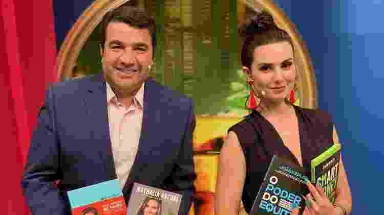 """João Kepler e Nathalia Arcuri no """"Me Poupe! Show"""" - Divulgação/RedeTV! - Divulgação/RedeTV!"""