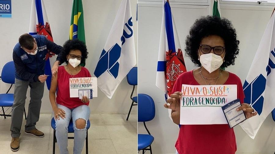Teresa Cristina é vacinada contra a covid-19 - Reprodução/Instagram