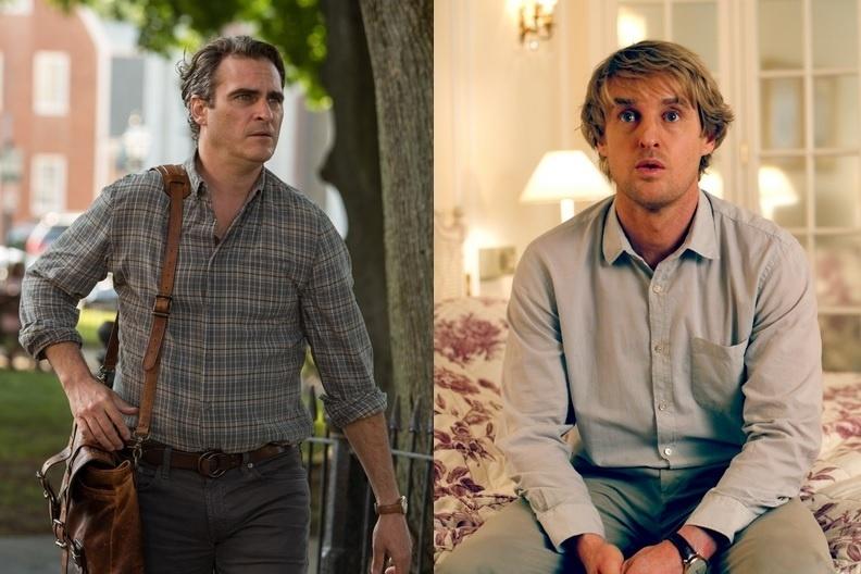 Joaquin Phoenix e Owen Wilson em cenas de