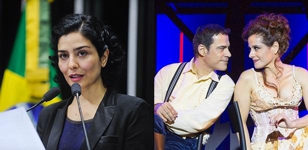 Leticia Sabatella e Claudio Botelho sofreram pressões do público por se pronunciarem sobre a crise política - Montagem UOL