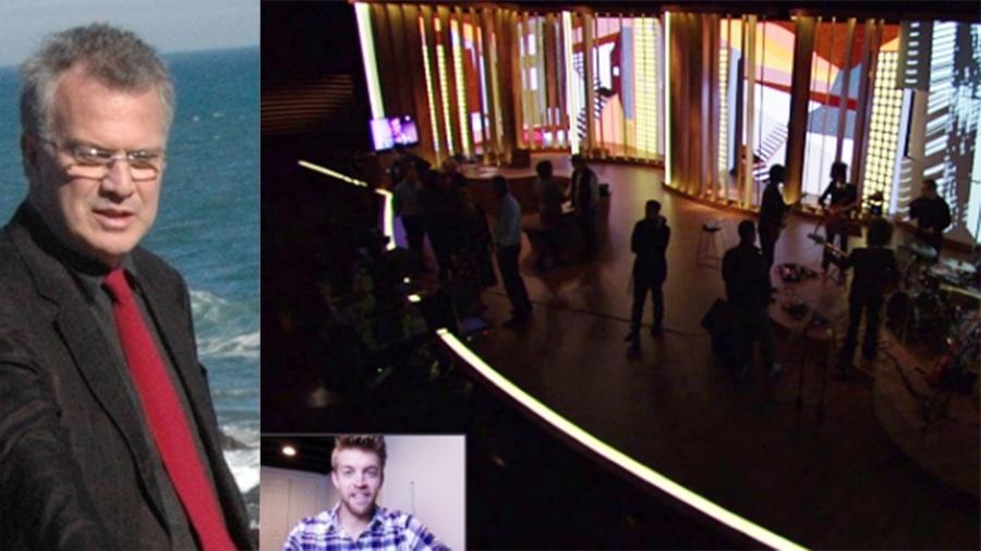"""Youtuber Gavin Roy vazou o cenário do programa """"Conversa com Bial"""" - Reprodução"""