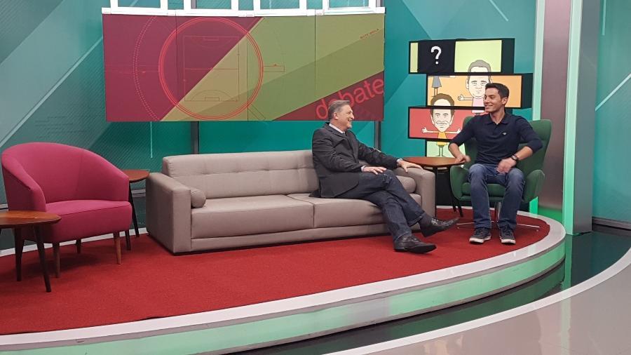 """O executivo João Palomino e Bruno Vicari, apresentador do """"Bate Bola Debate"""" na ESPN Brasil - Divulgação/ESPN Brasil"""