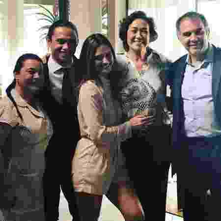 Karla Karenina (Dita), Silvero Pereira (Nonato), Juliana Paiva (Simone), Lilia Cabral (Silvana) e Humberto Martins (Eurico) - Reprodução/Instagram
