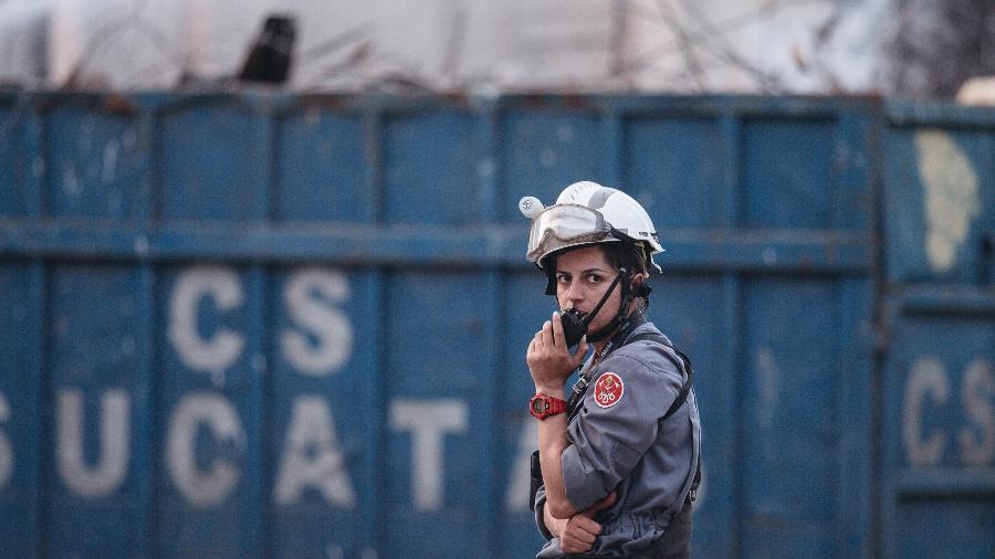 A capitã Rafaela, do 2º Grupamento do Corpo de Bombeiros - Carine Wallauer/UOL