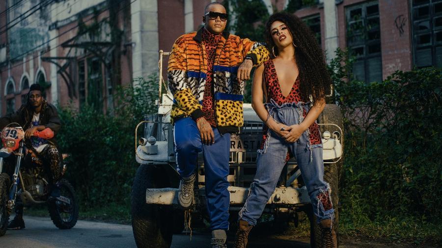 """Léo Santana e Gloria Groove gravam clipe de """"Arrasta"""" no Rio de Janeiro - Rodolfo Magalhães/Divulgação"""
