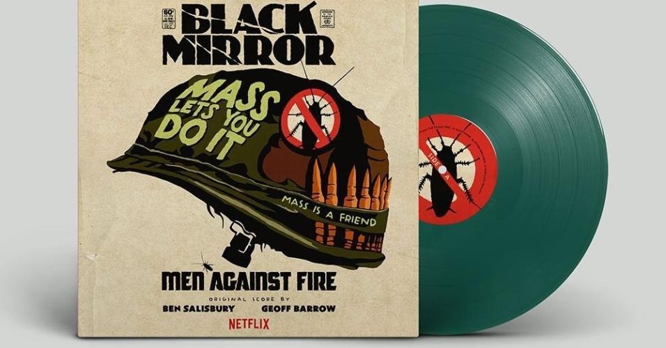 """""""Black Mirror"""" também gerou artes em capas de disco com as trilhas sonoras dos episódios"""