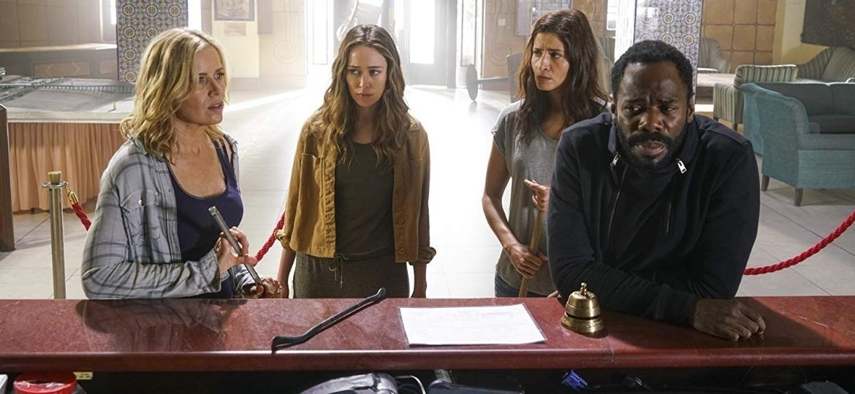 """Os atores Kim Dickens, Colman Domingo, Alycia Debnam-Carey e Mercedes Mason em """"Fear the Walking Dead"""" - Reprodução"""
