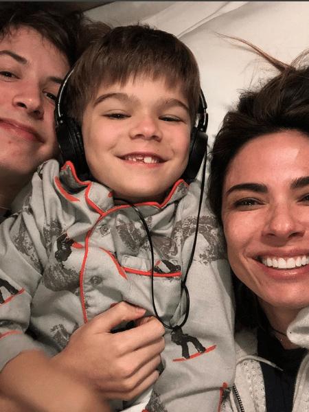 Luciana Gimenez com os filhos, Lucas e Lorenzo - Reprodução/Instagram