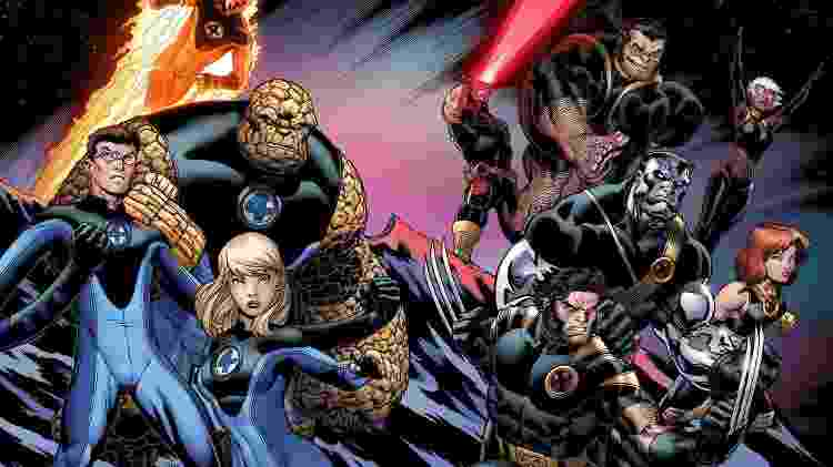 Quarteto Fantástico e X-Men - Reprodução - Reprodução