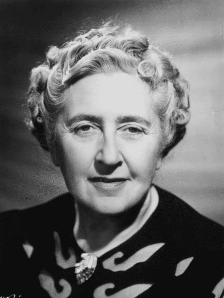 A escritora Agatha Christie - Reprodução