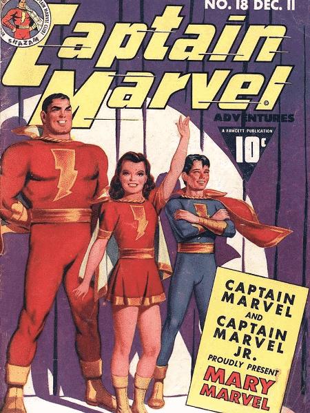 """Capa da HQ """"Capitão Marvel"""", da década de 1940 - Reprodução - Reprodução"""