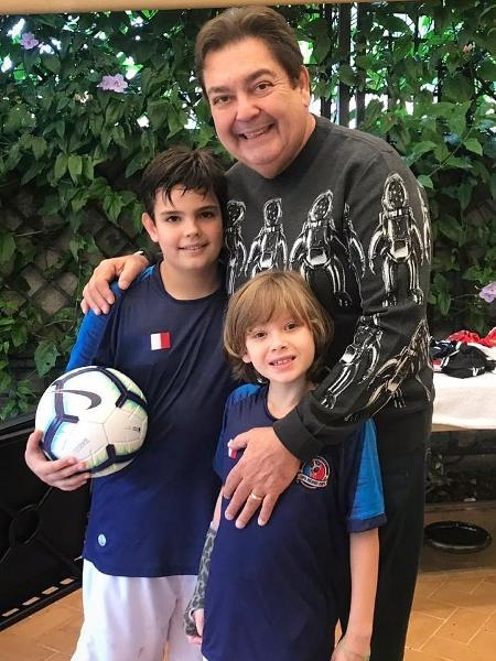 Vittorio com Faustão e Rodrigo Silva - Reprodução / Instagram