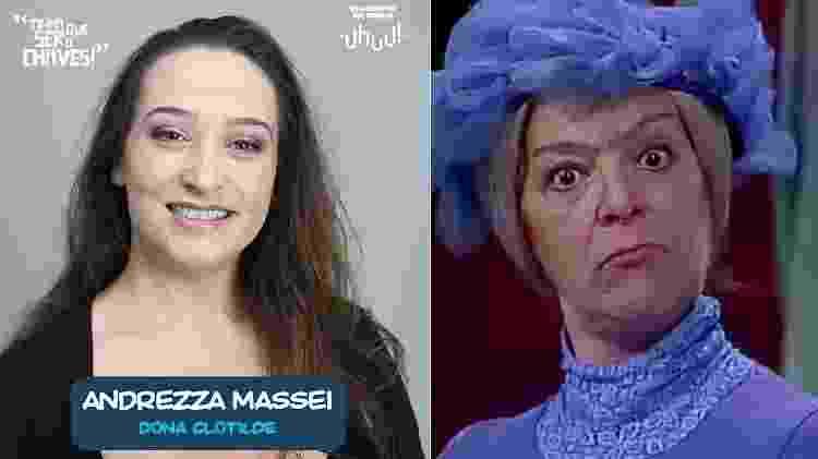 """Andrezza Massei interpretará Dona Clotilde em """"Chaves - Um Tributo Musical"""" - Montagem/UOL - Montagem/UOL"""