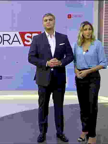Joel Datena e Laura Ferreira - Divulgação/Band - Divulgação/Band