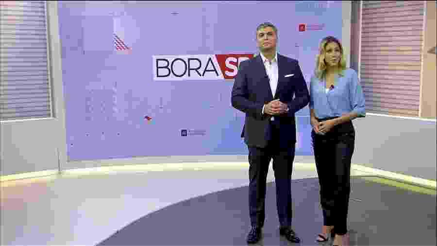 """Joel Datena e Laura Ferreira apresentam o """"Bora SP"""" - Divulgação/Band"""