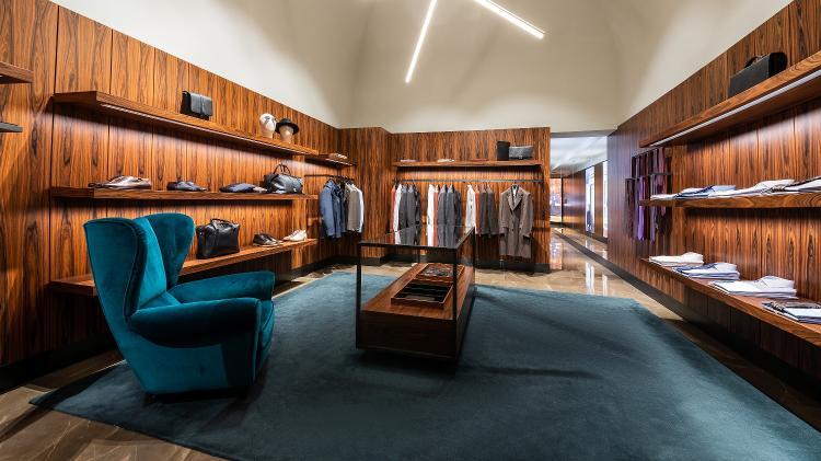 Na Brioni, participantes do tour Avenue of Style podem fazer ternos personalizados  - Divulgação/Rocco Forte Hotels