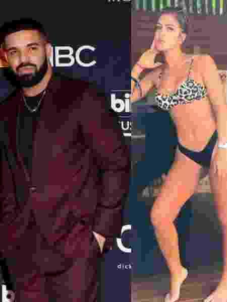 Drake e Débora Gonçalves - Reprodução