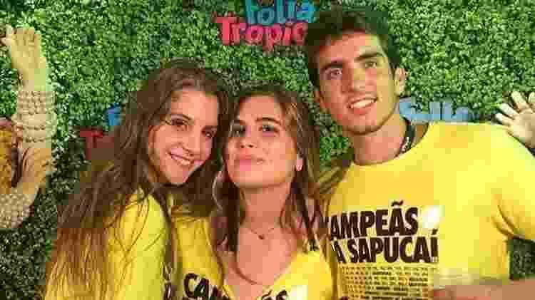 João Mader com Maria Maud (ao centro) no Carnaval deste ano - Reprodução/Instagram