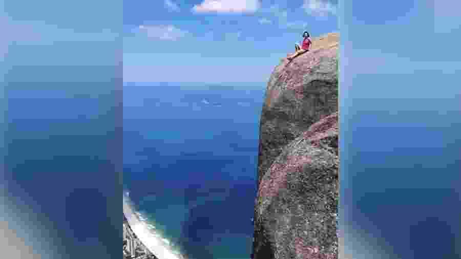 Vídeo de turista na Pedra da Gávea, no Rio de Janeiro, foi parar no Instagram @influencersinthewild - Reprodução/Intagram @influencersinthewild