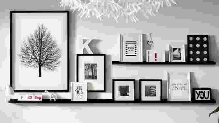 Estantes e quadros - Reprodução/Pinterest - Reprodução/Pinterest