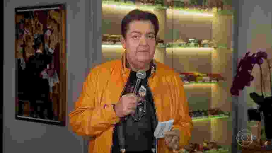 """Fausto Silva no """"Domingão do Faustão"""" - Reprodução/Globo"""