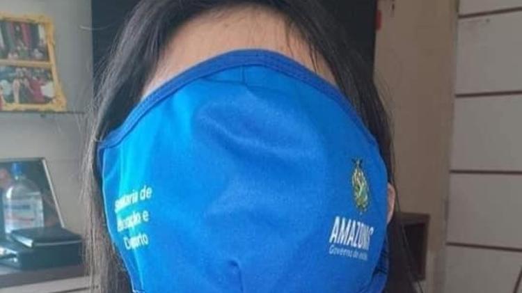 Máscara do Amazonas - Reprodução/Facebook - Reprodução/Facebook