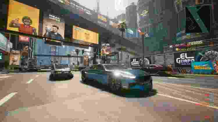 Cyberpunk 2077 carro - Reprodução/GameHall - Reprodução/GameHall