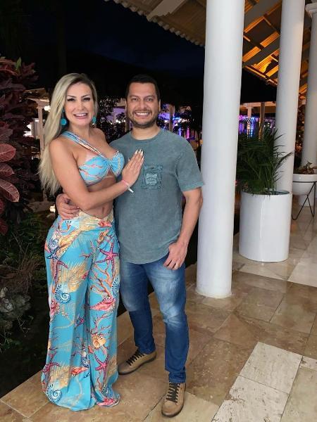Andressa Urach e Thiago Lopes posam na República Dominicana - Reprodução / Instagram