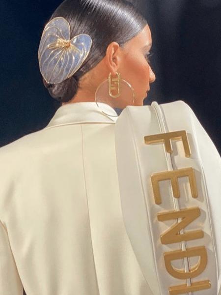 Detalhe do desfile da Fendi na Semana de Moda de Milão, temporada primavera-verão 2022 - Reprodução/Instagram