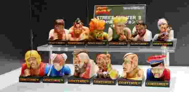 """Os mini-bustos de """"Street Fighter II"""" foram exibidos na Wonder Festival 2015, no  Japão - Reprodução"""