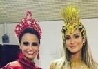 Claudia Leitte e Vivi Araújo gravam vinheta de Carnaval da Globo - Reprodução/Instagram/araujovivianne