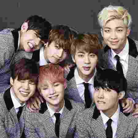 O grupo sul-coreano BTS formado por Jin, Suga, J-Hope, Rap Monster, Jimin, V e Jungkook - Divulgação - Divulgação