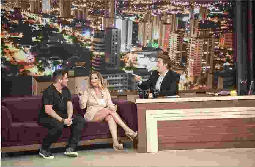 "12.dez.2016 - Maria Cecília e Rodolfo participam do ""Programa do Porchat"" - Marcus Godoy /Record TV"