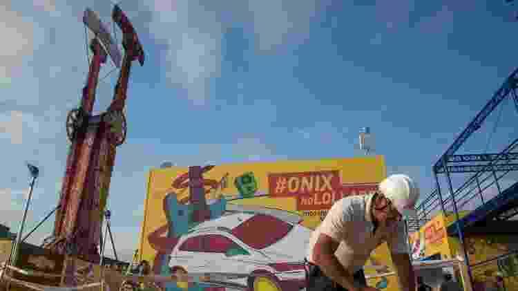 Sai a roda-gigante, entra o Kamikaze como uma das atrações do Lollapalooza Brasil além da música. O festival acontece nos dias 25 e 26 de março no Autódromo de Interlagos, em São Paulo - Débora Klempous/UOL - Débora Klempous/UOL