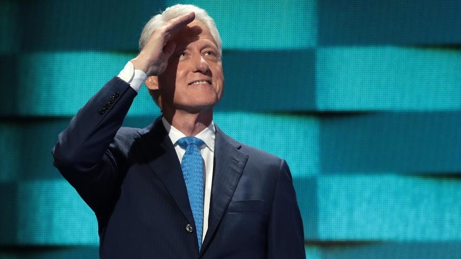 27.jul.2016 - O ex-presidente dos Estados Unidos, Bill Clinton - Drew Angerer/Getty Images/AFP