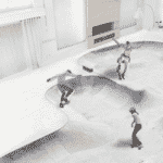 Já que Ana se arriscou nos patins, temos outra sugestão: que tal uma pista de skate ali? Tem espaço de sobra para muitas manobras radicais - Arte/UOL