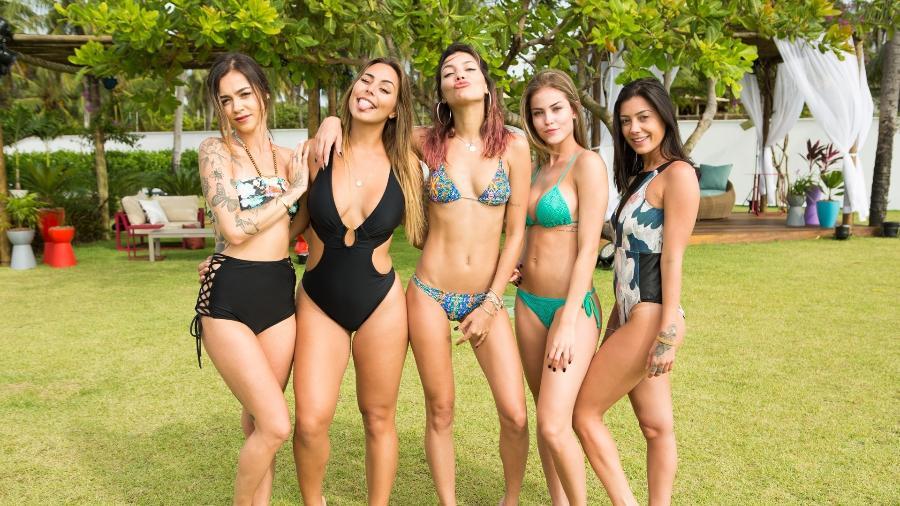 """Gabi Domingues, Stephanie Vegas, Raissa Castro, Saory Cardoso e Gabi Prado são as solteiras da nova edição do """"De Férias com o Ex 2"""" - Divulgação/MTV"""