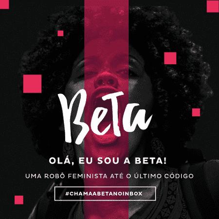 Beta, a robô feminista que auxilia na luta pelos direitos da mulher - Reprodução/Facebook