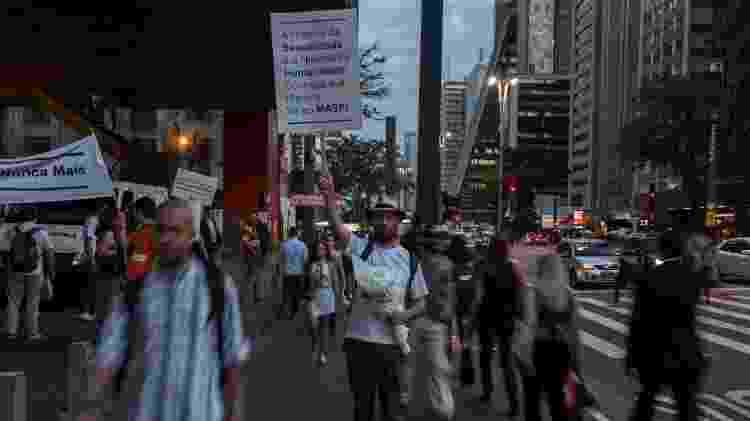 Protesto em prol da arte e contra a censura no Masp durante a abertura da exposição História da sexualidade - André Lucas/UOL - André Lucas/UOL