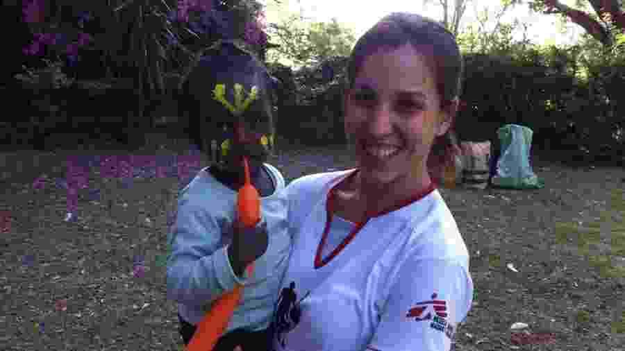 Bianca durante sua missão no Quênia - Acervo Pessoal