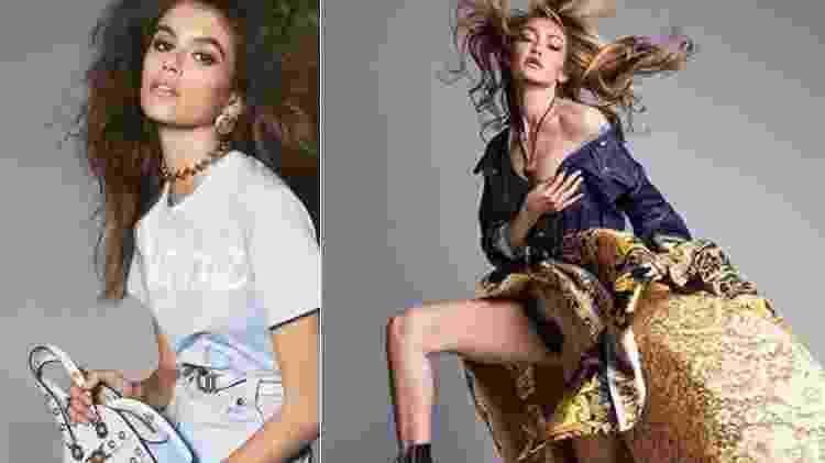 Kaia Gerber e Gigi Hadid para a Versace - Reprodução/Instagram - Reprodução/Instagram