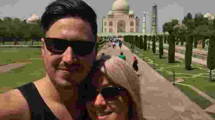 Matt Myles e a noiva, Stacy - Arquivo Pessoal - Arquivo Pessoal