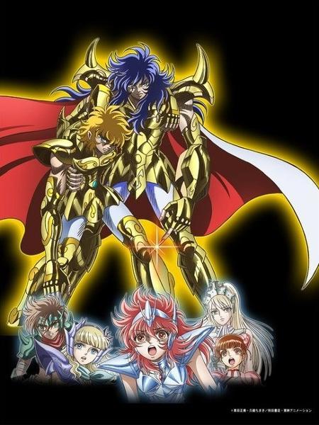 """Imagem do anime """"Saintia Shô"""", que faz parte do universo """"Cavaleiros do Zodíaco"""" - Reprodução/Twitter"""